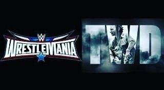 #WrestleMania vs. The Walking Dead premiere #twd what will you be watching you who wins