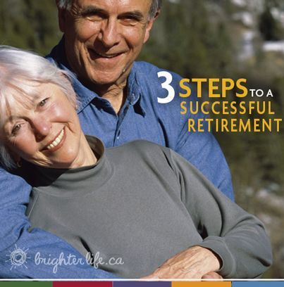three steps to a successful retirement