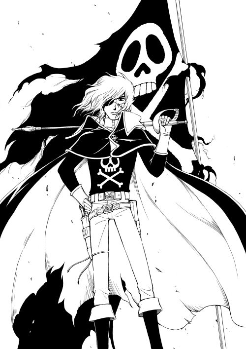 Space Pirate Captain Harlock and the Flag of Freedom