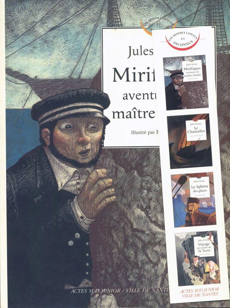 Emre Ohrun - Les Mirifiques aventures De Maître Antifer, Actes Sud Les Mondes Connus Et Inconnus 2004, texte à l'identique du Hetzel, avec un signet de la collection.
