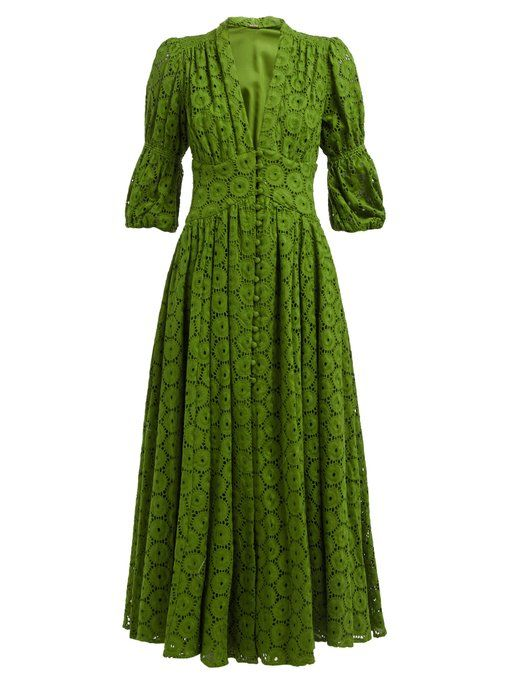 95af4da5b6a Cult Gaia Willow puff-sleeve eyelet-lace maxi dress