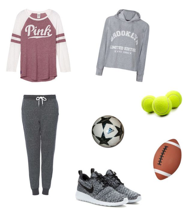 """Tenue de sport pour l'hiver !"" by emma-bricard ❤ liked on Polyvore featuring Ally Fashion, Topshop and NIKE"