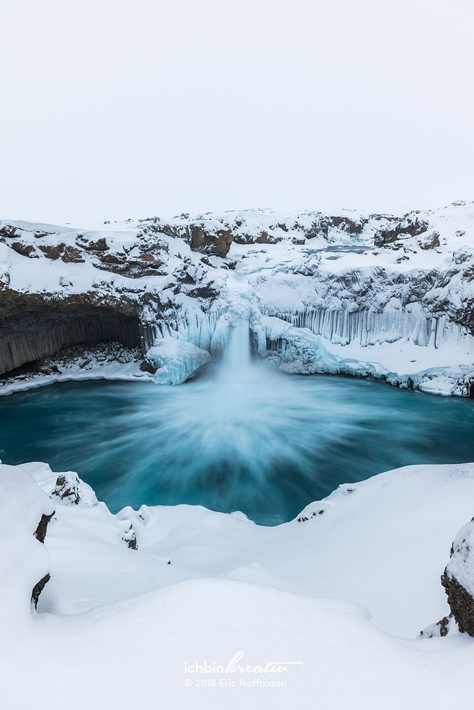 https://flic.kr/p/D5tbn3 | Aldeyjarfoss in winter II | This wonderful waterfall is located in the northern part of the country and can be reached by the road 842, which also leads to the waterfall Goðafoss at first. However, the road becomes the mountain road F26 later on for which a 4x4 is required. Also note that the last part of the road is only reliable passable from about June to September, depending on the road and weather conditions. The most interesting feature of the waterfall…