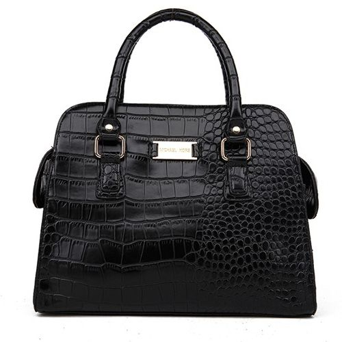 Michael Kors Gia Embossed Large Black Satchels only $72.99