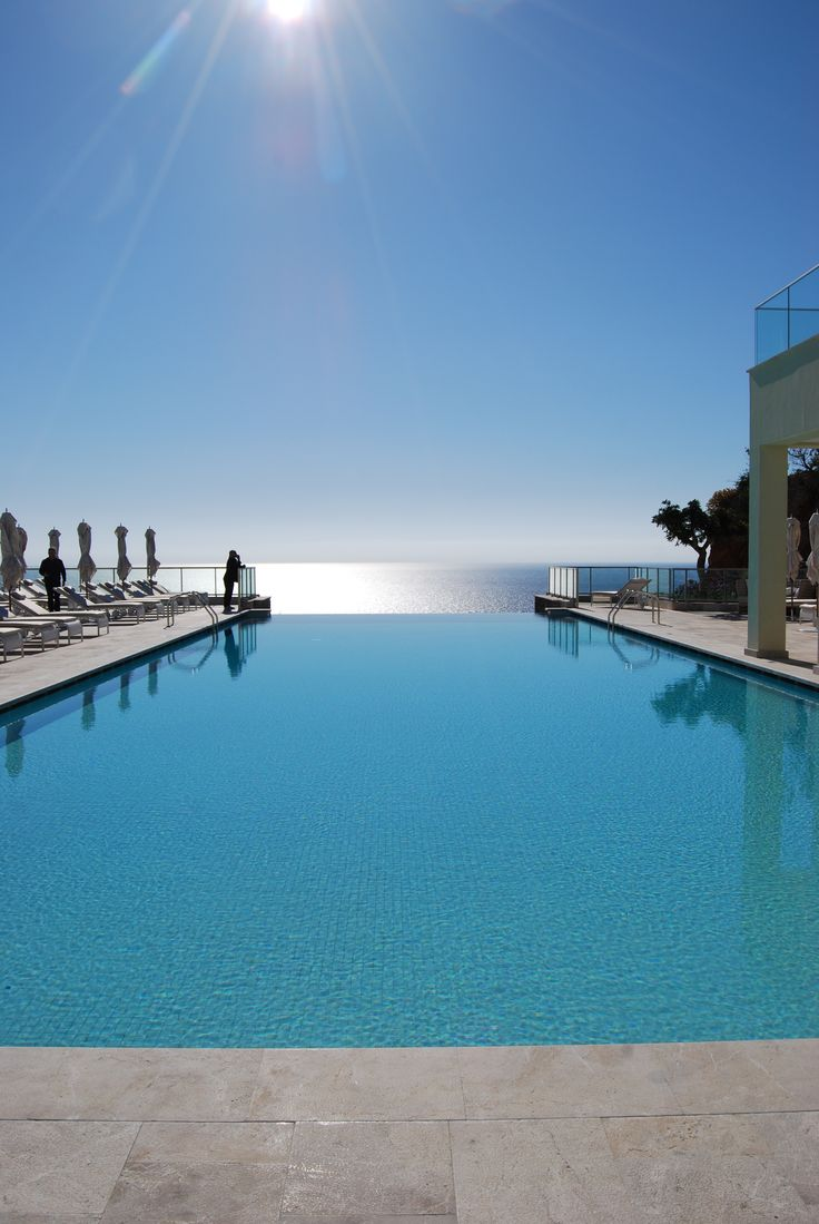 Incomparable view over the Mediterranean Sea at Mallorca - from the infinity pool at Jumeirah Port Soller.