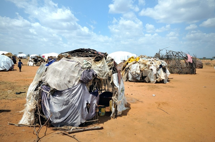 Inside the Dadaab refugee camp in Kenya.