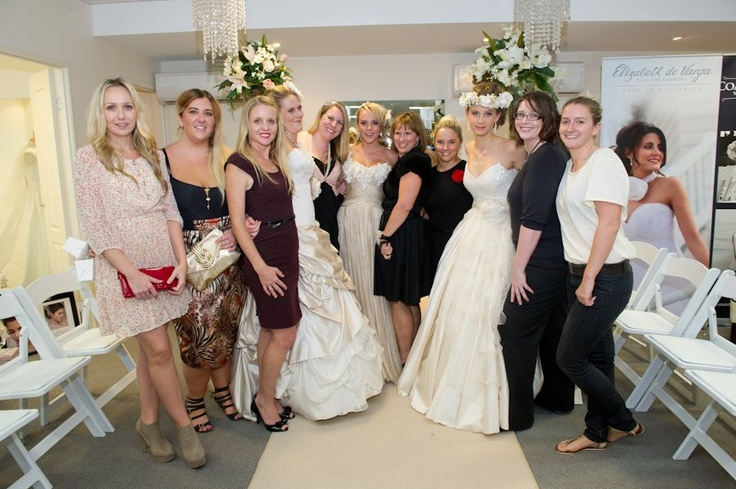 The faces behind the gowns - some of the dedicated EdV team including Steph, Courtney, Janie, (model, Brit), Amy, (model, Bec), Tam, Leonie, (Model, Connie), Kay and Anna....much love to the rest of the team - Jodie, Neshama, Divya, Di, Juliet and Bianca <3