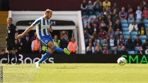 Jack Grealish's last-minute equaliser for Aston Villa denied Brighton & Hove Albion the Championship title.The Premier League-bound Seagulls were beaten by Bristol City and Norwich in their last two games with only three points required to seal top spot.