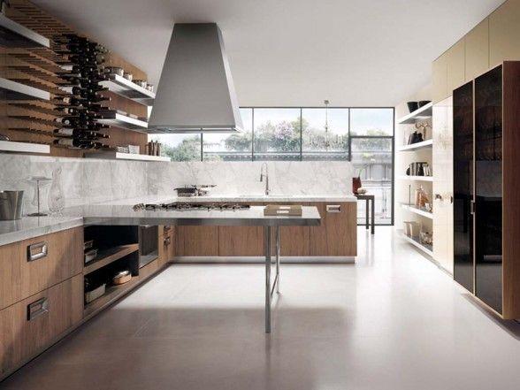 contemporary walnut kitchen furniture design