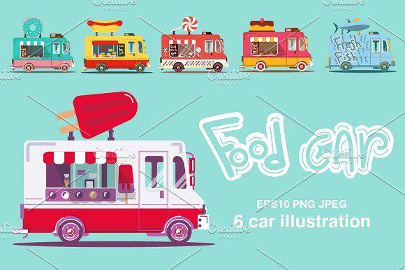 Food car set by Margarita art on @creativemarket