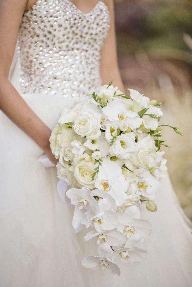 Para novias tradicionales, estilo cascada