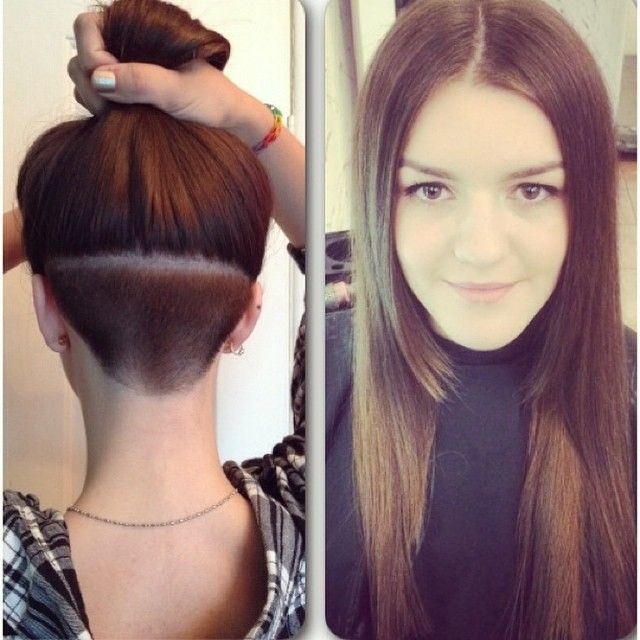 Very cool! Angled bob next with a glimpse of undercut ...