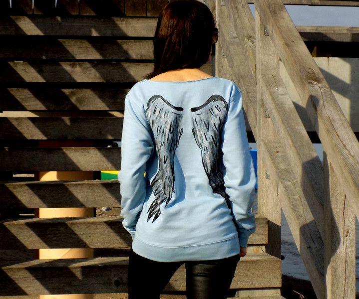 """bluza """"SKRZYDŁA """" WYBIERZ KOLOR ! - AK-Creativo - Koszulki z długim rękawem"""