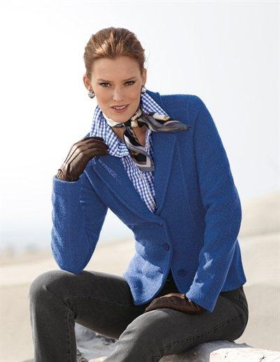 Strickblazer, Bluse, FRAAS. Tuch, Handschuhe