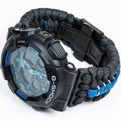 Thin Blue Line Paracord - LEO Inspired Trilotac Collaboration - GA-100 G-Shock $220