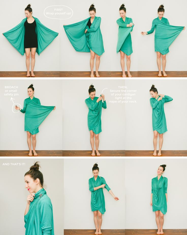 How to wear the Wrapped Cardigan | Seamly.co