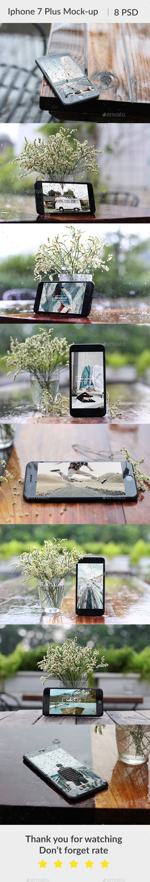 Phone 7 Plus Waterdrop Mockup