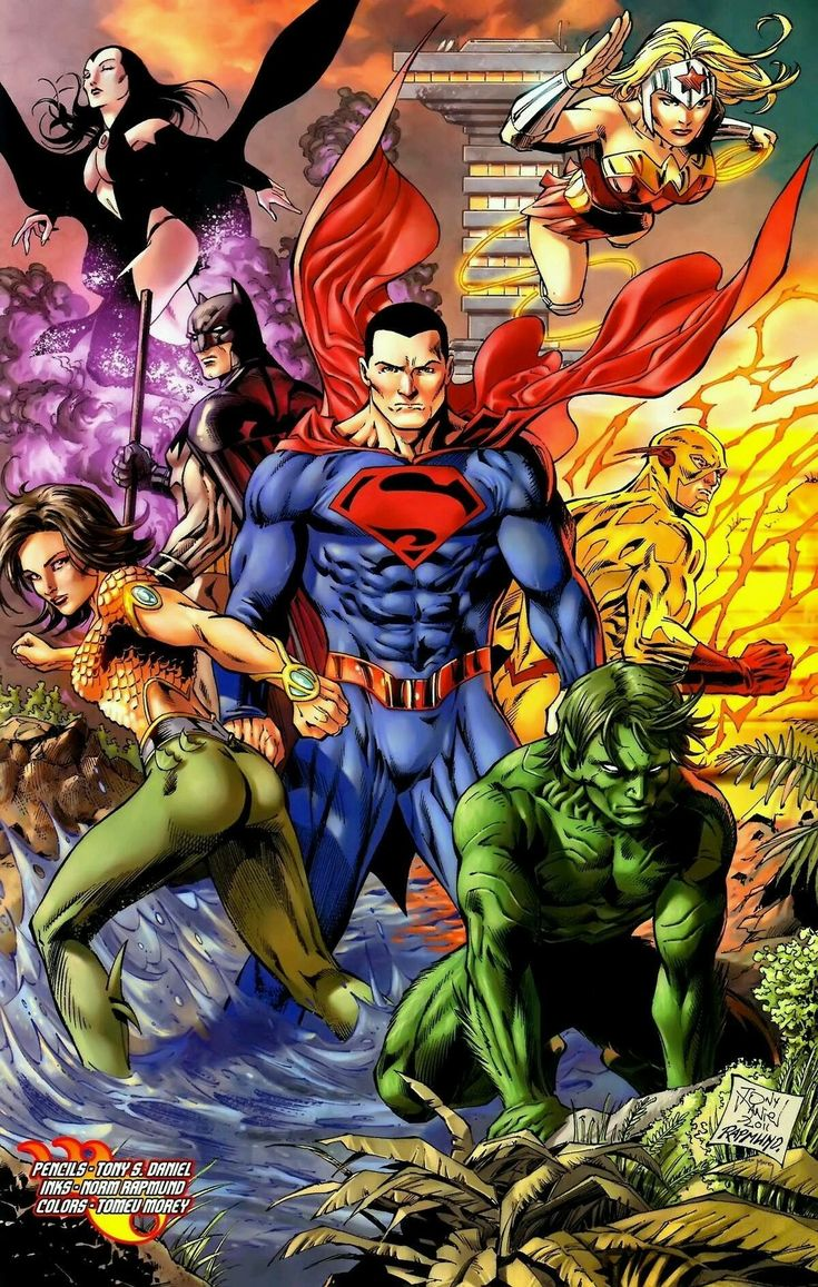 Teen Titans All Grown Up As Justice Leaguers  Teams -4295