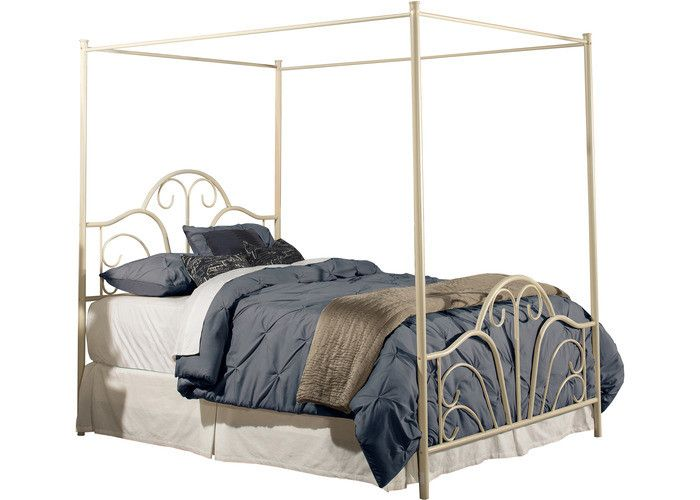 1965BKC Dover Bed Set - King - w/Canopy & Legs - Bed Frame Not Included - Cream Finish - Free Shipping!