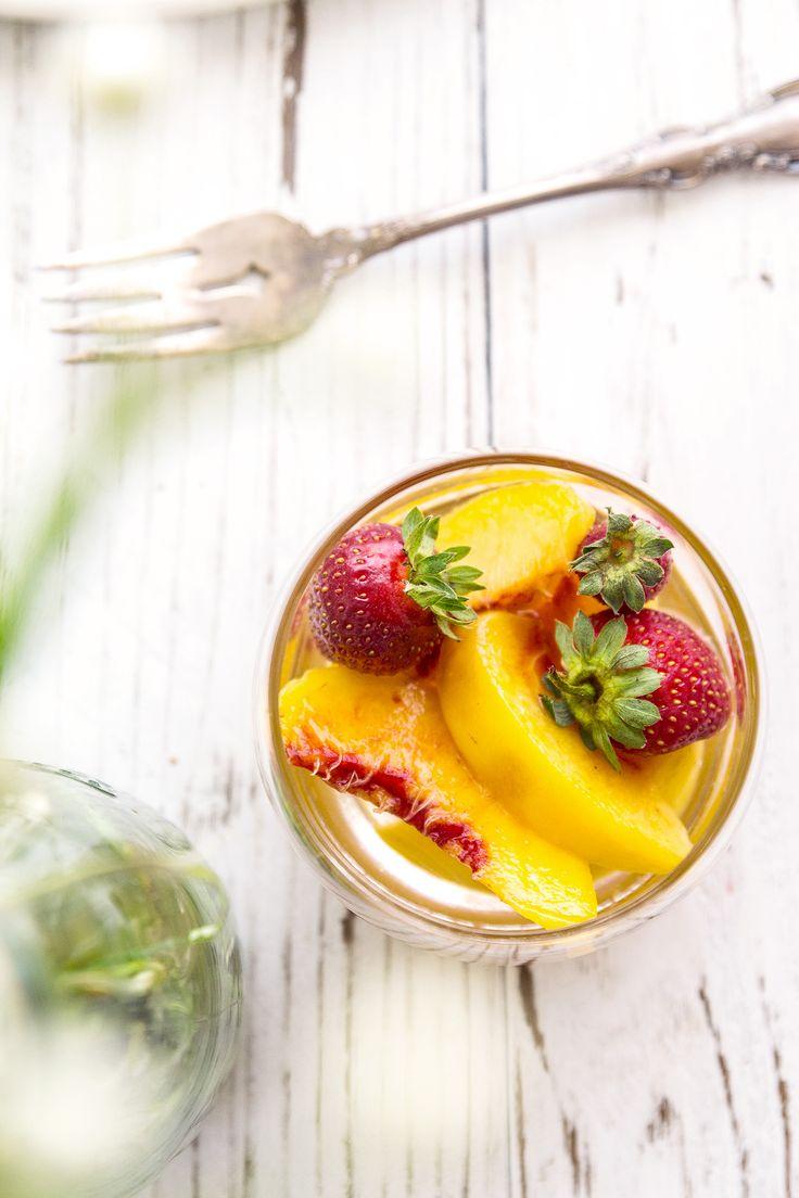 Peaches in Muscat Wine Recipe | HonestlyYUM