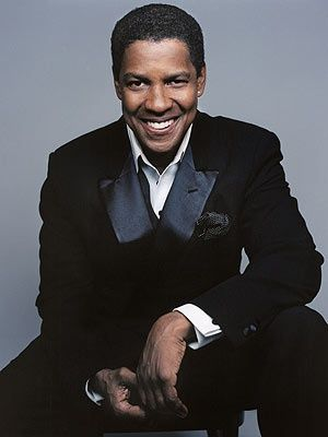 ♂ Masculine & elegance black suit Denzel Washington