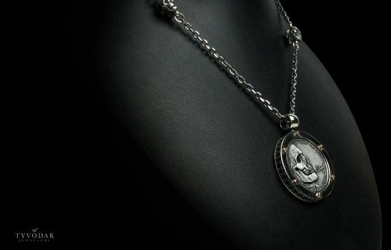 Skull Antique coin II  Necklace made of gold / silver by TYVODAR