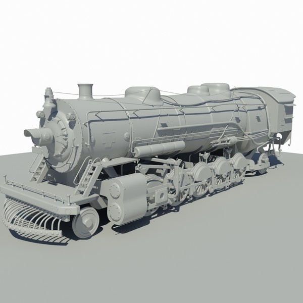 CGI - $79 - train locomotive 3d dxf - Locomotive Train... by 3DUniverse Pro