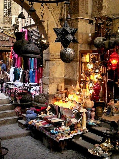 An Egyptian souq.  Khan al-hkalili by Jeffrey T. Horvath http://www.lonelyplanet.com/egypt/shopping