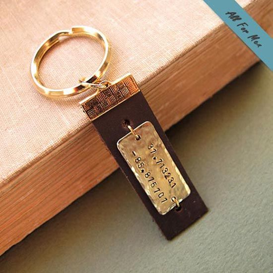 Leather Gifts For Men For Wedding Anniversary: 28 Best Personalized Keychains