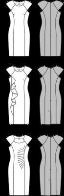 Schnittmuster: Kleid – überschnittene Schultern - Kleider - Damen - burda style