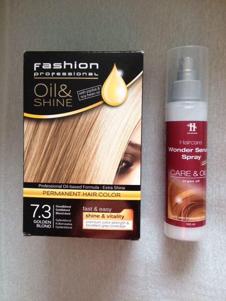 Haarverf + hair care spray bij #action voor een heel leuk prijsje