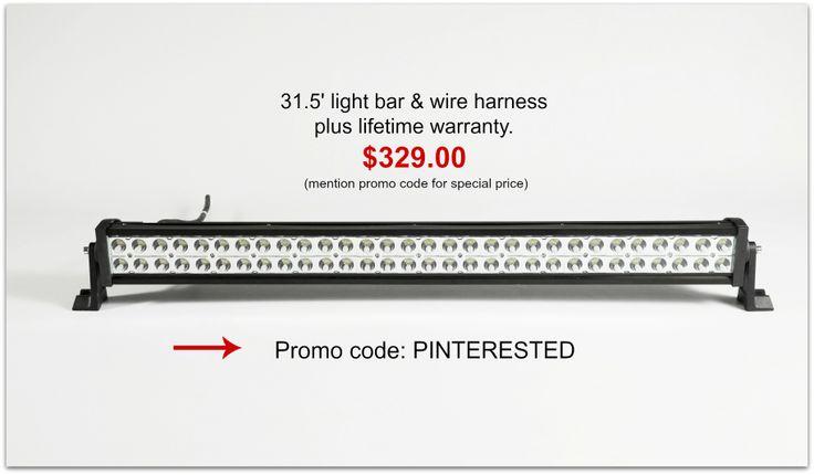 31.5'180 watt AVEC light bar with wire harness & lifetime