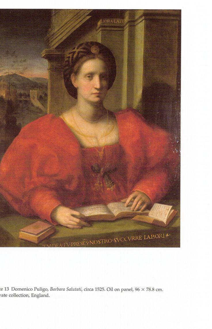Domenico Puligo, Barbara Salutati, c1525, Private Collection, England  Gabrielle Langdon, Medici Women Portraits of Power, Love and Betrayal (Toronto: University of Toronto Press, 2006)
