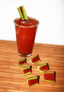 Bloody Mary Jello Shots. OH MY GOD SUPERBOWL SNACK GENIUS