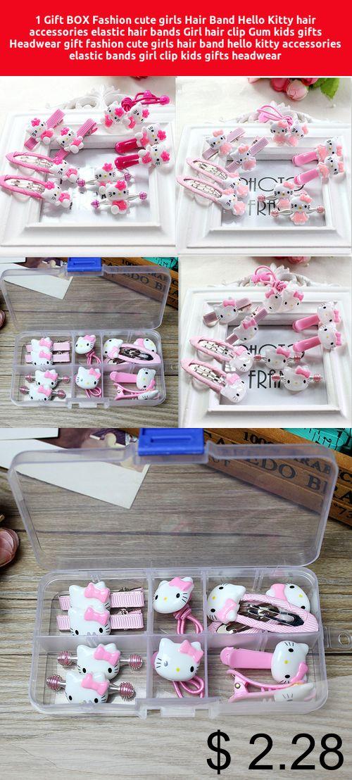 0cd3df998 [Only $2.28] 1 Gift BOX Fashion cute girls Hair Band Hello Kitty hair  accessories elastic hair bands Girl hair clip Gum kids gifts Headwear #gift  #fashion ...