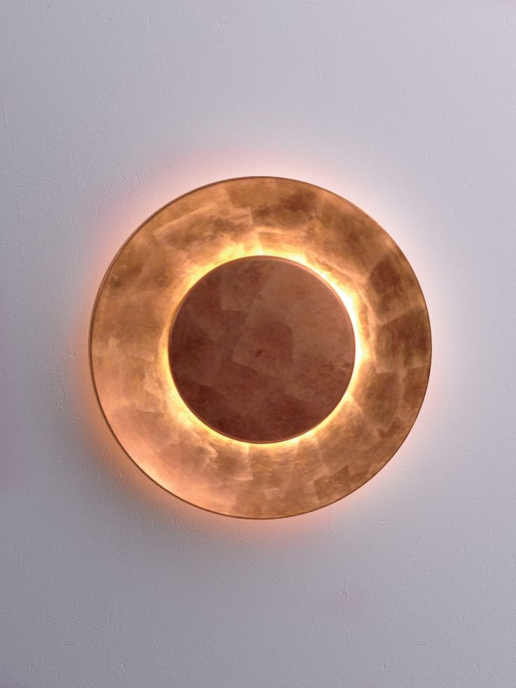 Copper Leaf Covered Reflector And Front Disk.