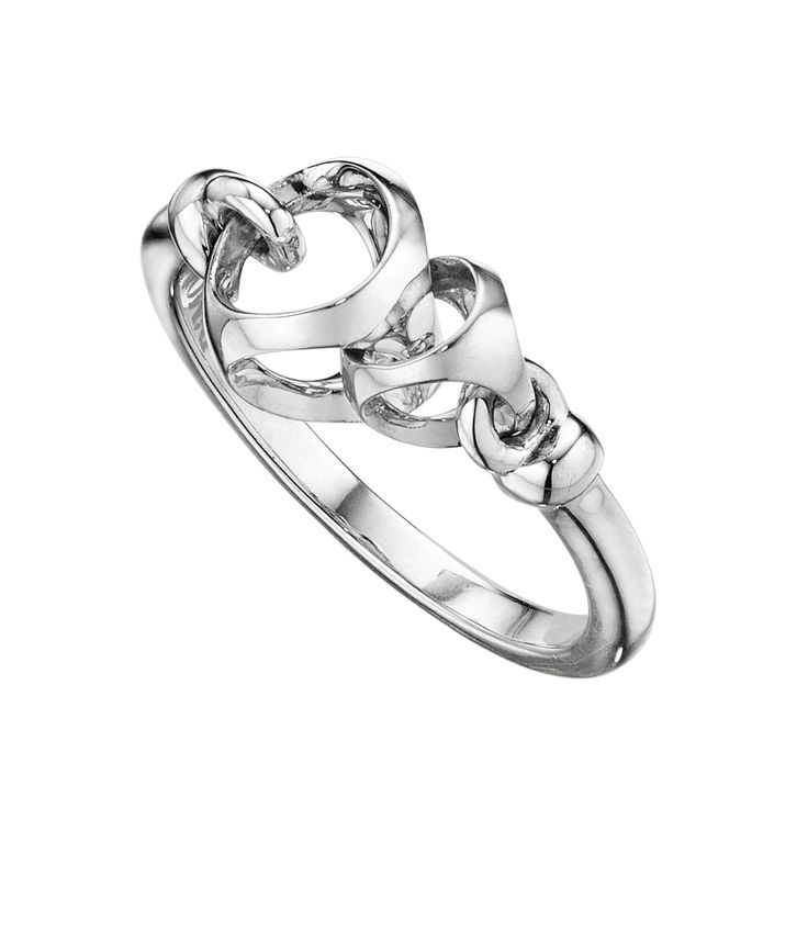 Love necklace - Silver band ring
