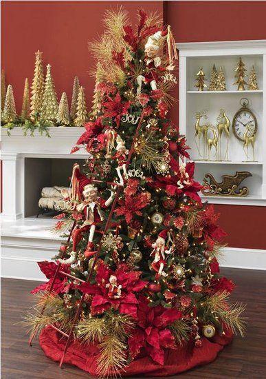 33++ Arbol de navidad rojo y dorado trends