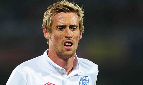 """Peter Crouch. Actual quote """"What you be if you weren't a footballer?"""" """"A virgin."""""""