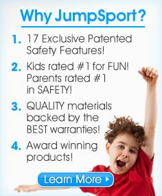 JumpSport Trampolines are the World's Safest Trampoline!
