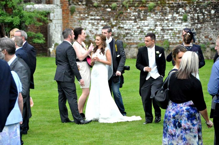 Wedding guests at Slaugham Place, West Sussex: http://www.supereventsussex.co.uk/wedding-caterers-sussex/emma-daniels-wedding-slaugham-place-west-sussex/