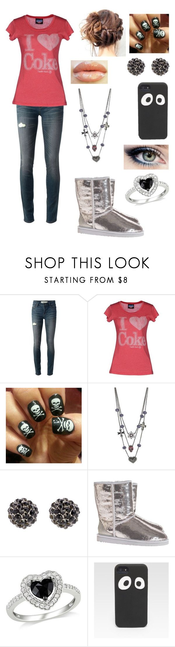 """I love coke"" by gymnastonbars ❤ liked on Polyvore featuring Marc by Marc Jacobs, Junk Food Clothing, Betsey Johnson, Snö Of Sweden, UGG Australia, Amour and Jack Spade"