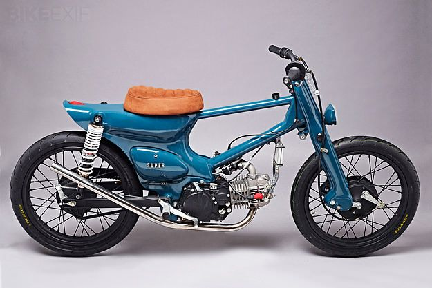 The Super Motor Company sells a remake of the Honda Super Cub in Europe. But this machine, nicknamed 'Salt Shaker', is no city runabout. It's packing a heavily breathed-upon 150cc Yinxiang motor, plus racing wheels and tires, and a bespoke frame. Would you ride it?