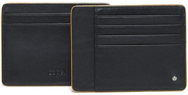 Porta Carte di Credito piatto elegante , 4 cc e 3 doc, in pelle cm. 12.2 ADPEL
