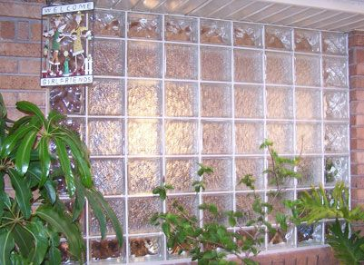 Two patterns used glass brick kitchen inspo pinterest for Hollow glass blocks for crafts