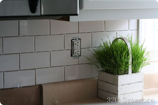 How To Install A Subway Tile Backsplash Kitchen Design Ideas Pint
