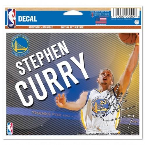 Golden State Warriors Decal 5x6 Multi Use Color Stephen Curry Design