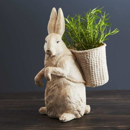 Rabbit Planter Accessories Summertime Outdoors