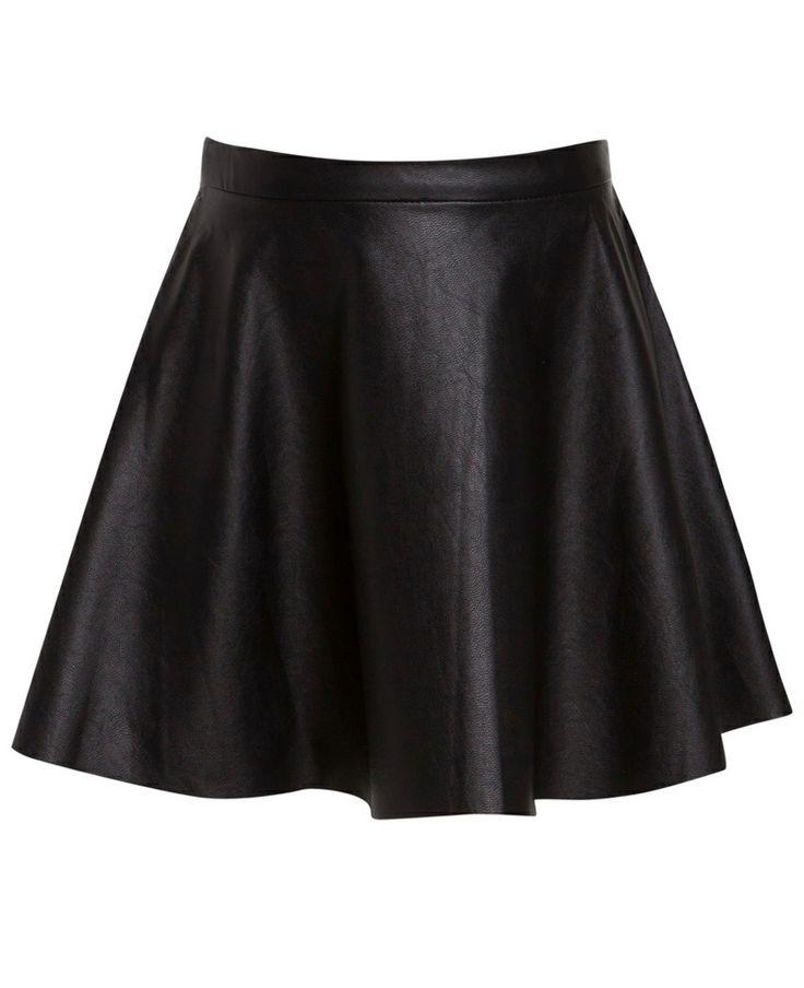 Little Girl's PU Flip Skirt - Bardot Black skirt for Emma wiggle costume