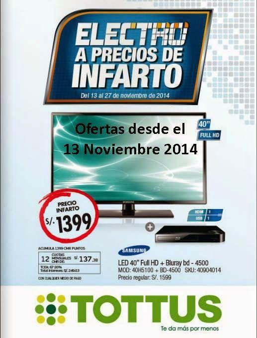 Catalogo Tottus Electro a Precios de Infarto del 13 Noviembre 2014